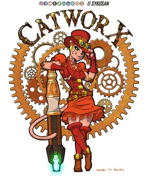 Atomsez Colouring: CatworX by Sykosan by AtomSez