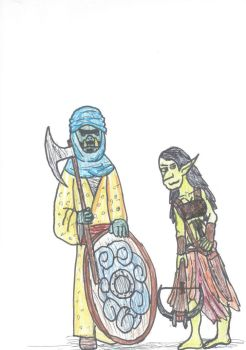 Orc and Goblin by TheReptilianGeneral