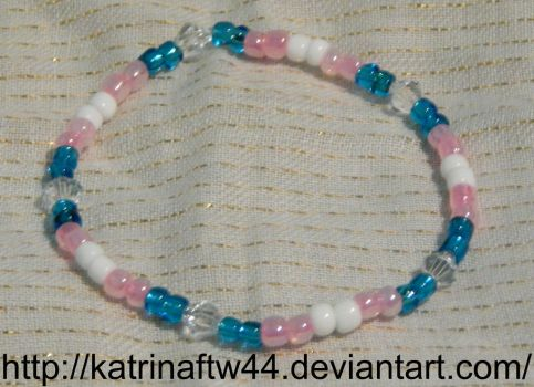 Another Trans Pride Bracelet for my Friend by KatrinaFTW44