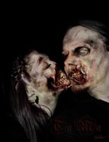 Zombies in love by MightyGodOfThunder