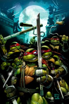 ninja turtle cover idw by ryanbrown-colour