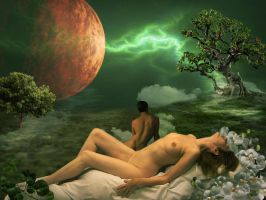 Adam and Eve by Moantzi