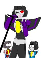 Skywarp Singing by lady-warrior