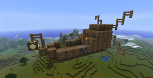 Tiny Minecraft Airship by Markecgrad
