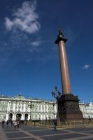 Hermitage and Alexander Column by syrus