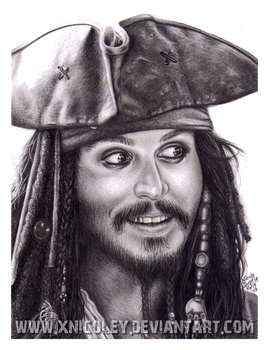 Jack Sparrow drawing, aye? by xnicoley
