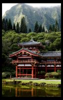 Oahu, Hawaii: Byodo In Temple by DirtHat
