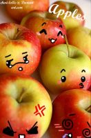Apple Faces by cheri-lolle
