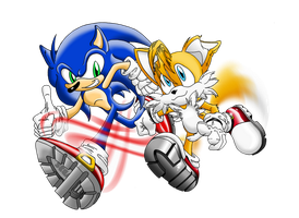 Sonic and Tails : Keeping Up by BroDogz