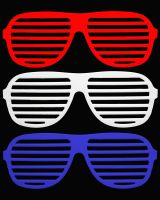 Patriotic Glasses by mythicdragon30