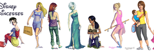 Disney Princesses - Modern-day by Artzygrrl