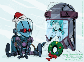 MR Freeze XMAS Card 2012 by JPVilchisartist