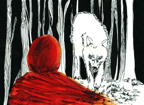 Red In The Woods by Cheval-Dor