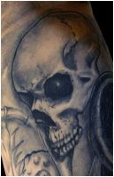 Freehand Skull by Anderstattoo