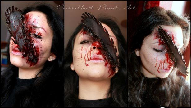 Saw Halloween SFX Make up by CrissabbathPaintArt