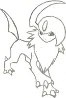 Absol Sketch by CoolMan666