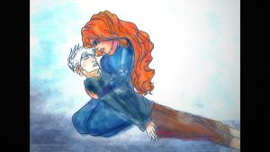 JACK FROST x MERIDA - FADE AWAY by thisistiffania