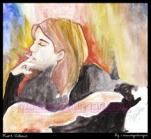 Cobain with His Guitar by macangadungan