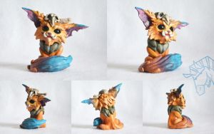 LOL Gnar sculpture by ZebraChanWorkshop