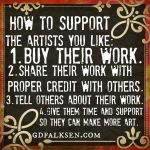 HOW TO SUPPORT THE ARTISTS YOU LIKE by Artistik-Bootya
