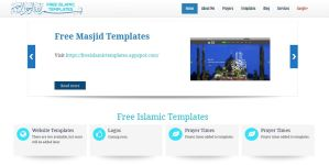 Free Islamic Website 3 | Free Islamic Templates by crazy25000
