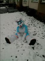 snow dog by FursuitCollector