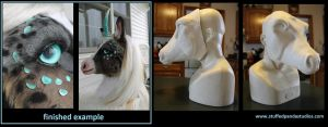 Unicorn Resin Head Cast by stuffedpanda-cosplay