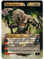 Ajani Vengeant extention painted Mtg Alter by iplaythisgame