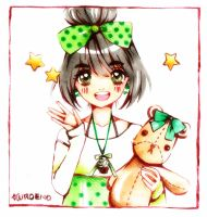 Green Polka dots by Kuroeno