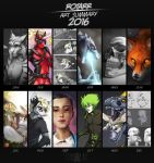 2016 Art Summary by FlyQueen