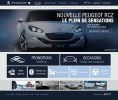 Webdesign - Peugeot (unofficial) by ShinDatenshi