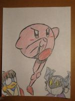 Muscle Kirby contest entry by RWBproductions