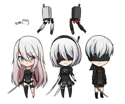 YoRHa Androids by ppshex