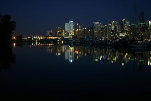 Vancouver at Night by iamkjelstrup