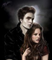 Edward and Bella by whitneyw