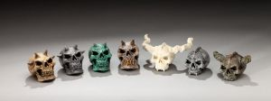 Assorted Skulls by DaveRichardsonArt