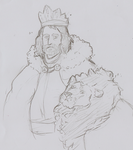 a King and his Lion by DeerKitten