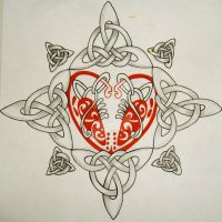 Celtic heart by josephblacktattoos