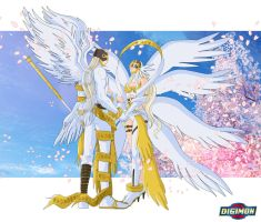 Meet Angemon and Angewomon from Reality XII by Ayhelenk