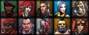 The Vault Hunters of Borderlands 1 and 2 by Glench