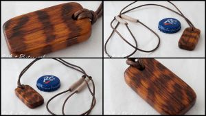 Handmade Snakewood Pendant by theon07
