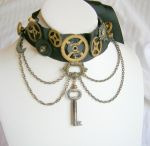 Steampunk Chocker by Hen-na-Ningyo
