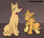 Alfons-dog and Ed-dog by Heliotrope-Housecat