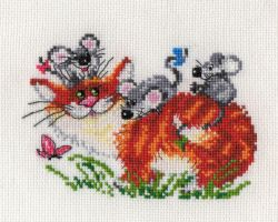 Jolly walk cross stitch by lovebiser