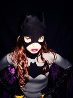 Black and Grey Batgirl Cosplay - Don't lie to me.. by ozbattlechick