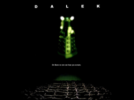 Dalek poster in the style of 'Alien' by Leda74