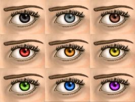 Eye colors by ferriore