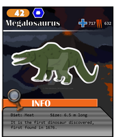 Meso Series No. 42: Megalosaurus (Alt. Costume 1) by ThePastHappened
