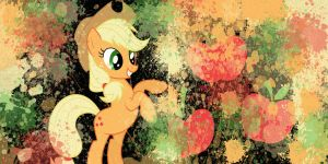 AppleJack Desktop Background by 123GirlKirby