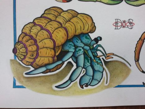 Tattoo Flash: Hermit Crab by Bass-Slinger